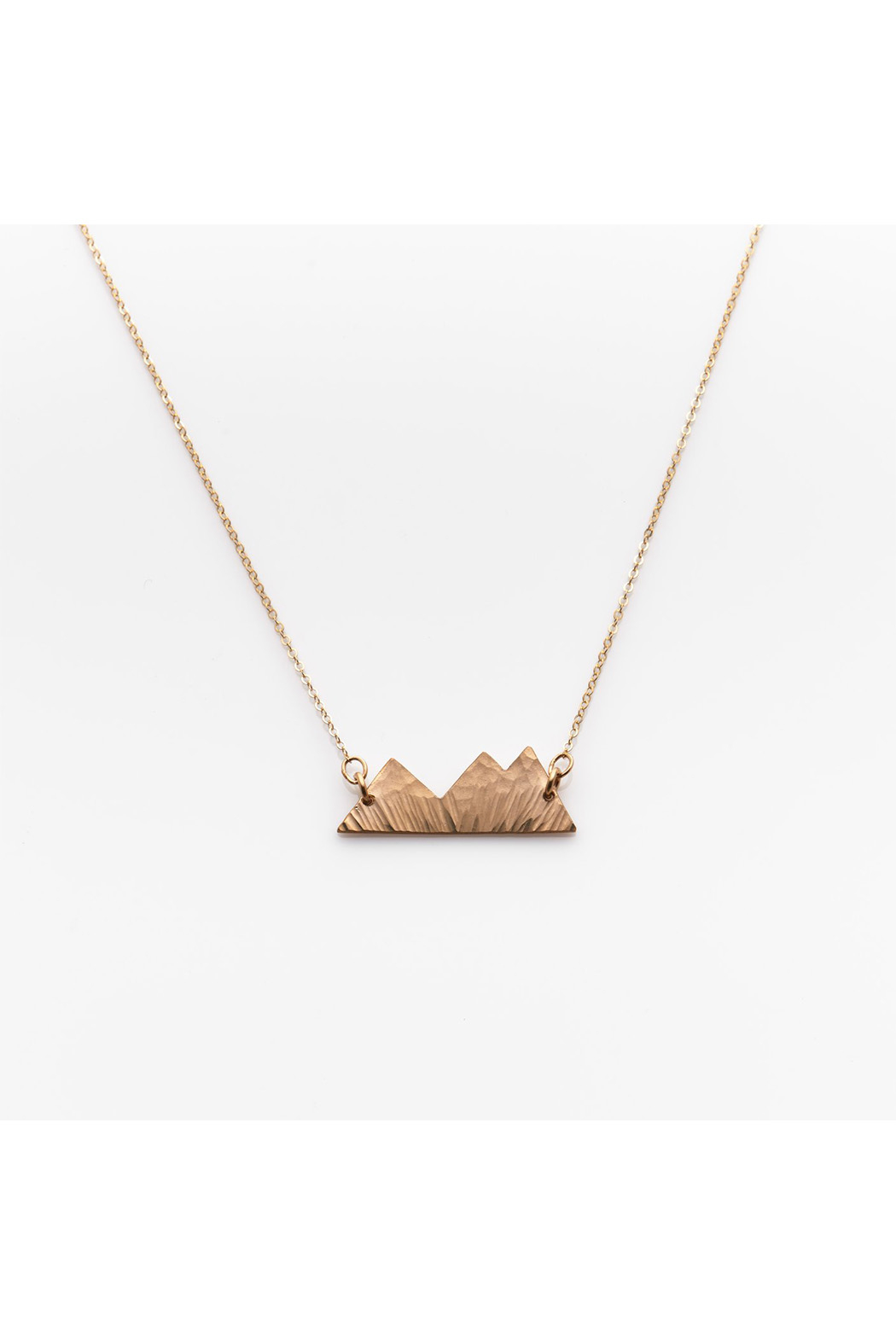 Nashelle Three Sisters Mountain Necklace - Front Cropped Image