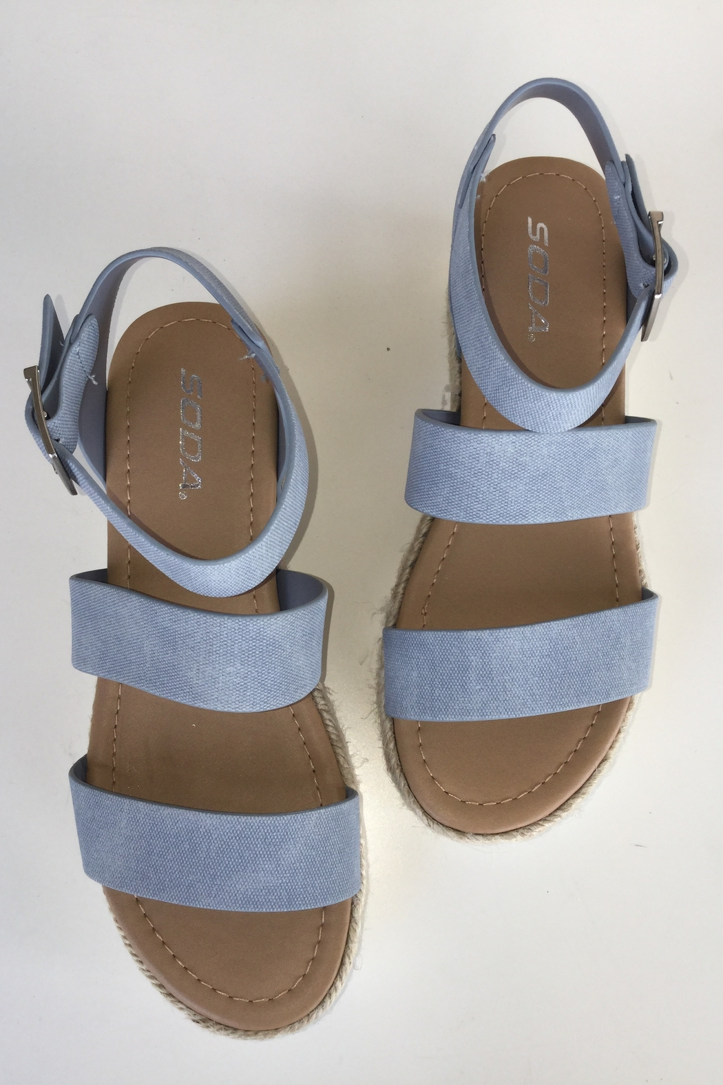 Soda Three Strap ESP Sandal - Front Cropped Image