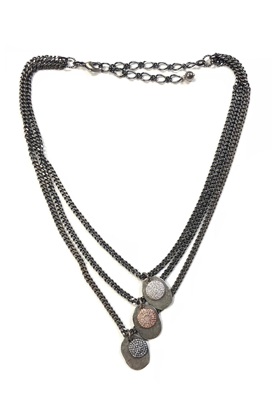 Lets Accessorize Three-Tier Plated Necklace - Main Image
