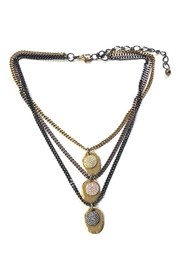 Lets Accessorize Three-Tier Plated Necklace - Front cropped