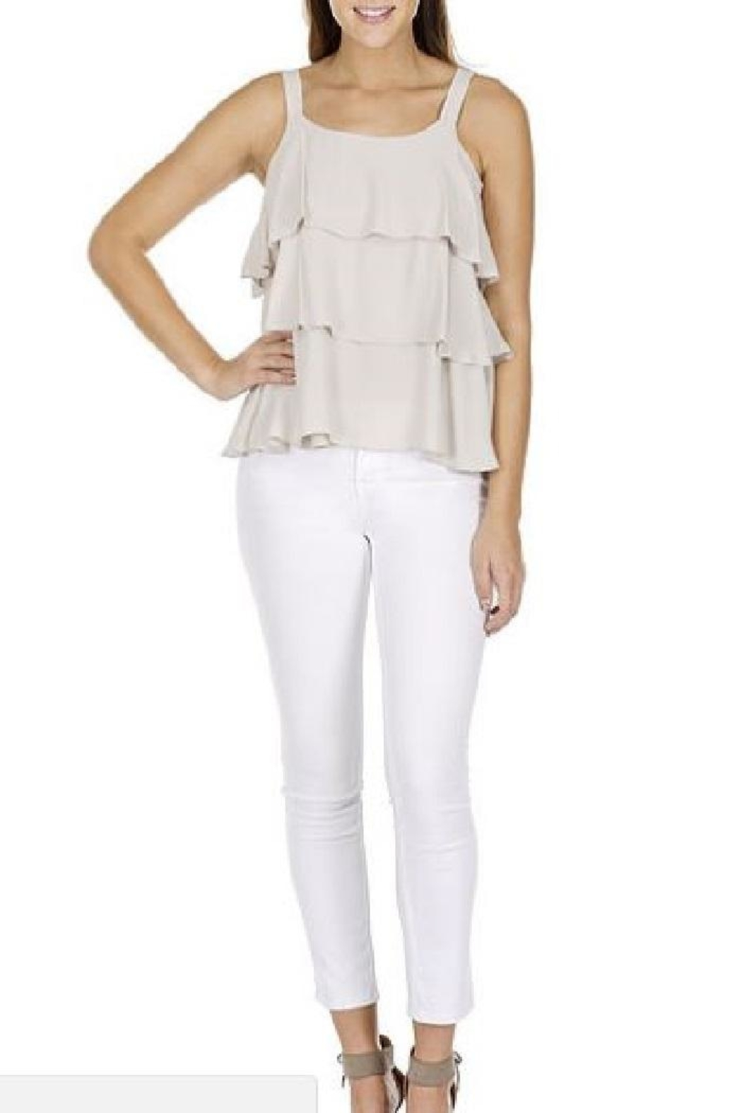 Joy Joy Three Tiered Top - Front Cropped Image