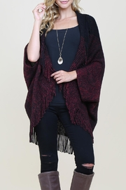 Riah Fashion Three-Toned/ribbed-Fringe Cardigan - Product Mini Image