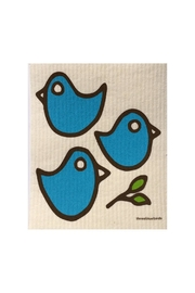 three bluebirds Blue Birds Dishcloth - Front cropped