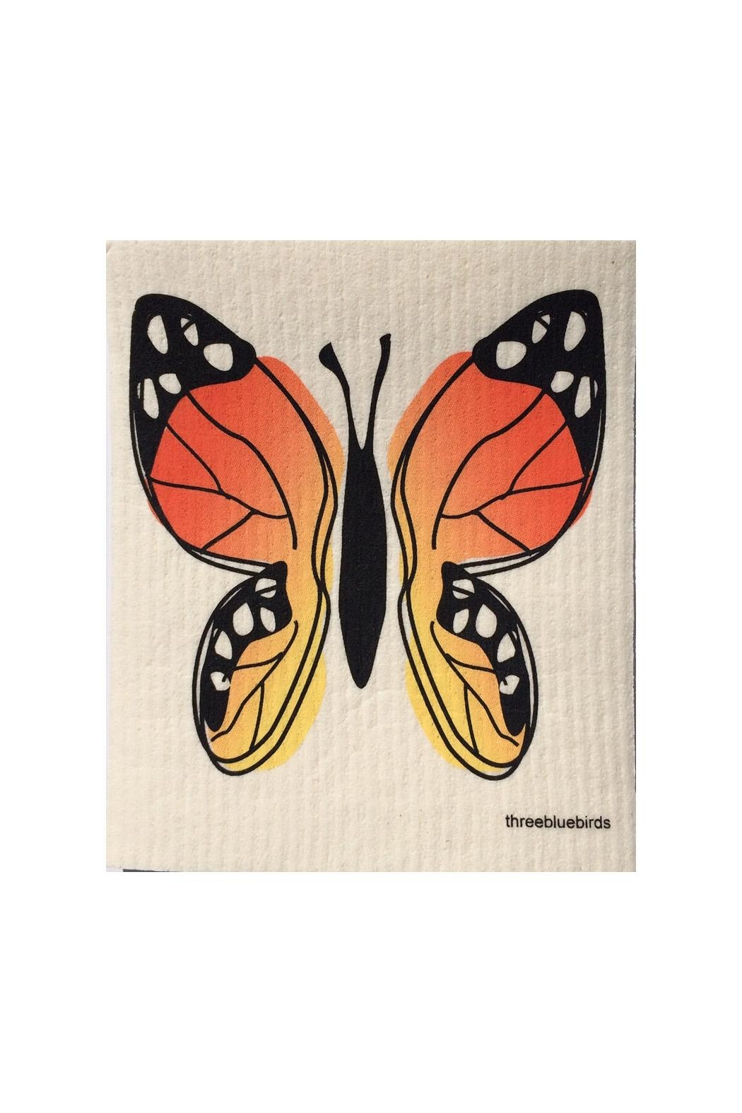 three bluebirds Swedish Wash Towel Butterfly - Main Image