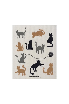 three bluebirds Swedish Washtowel Cats - Alternate List Image