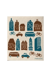 three bluebirds Swedish City Dishcloth - Front cropped