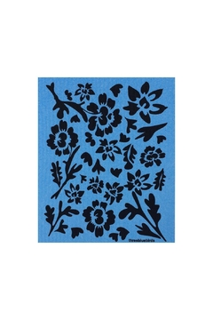three bluebirds Swedish Washtowel Flowers - Alternate List Image