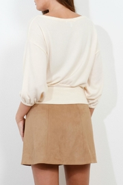 Three Dots Brushed Balloon Sweater - Side cropped