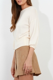 Three Dots Brushed Balloon Sweater - Front full body