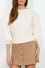Three Dots Brushed Crop Sweater - Product Mini Image