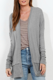 Three Dots Brushed Sweater Cardigan - Front cropped