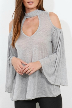 Shoptiques Product: Grey Cut Out Top