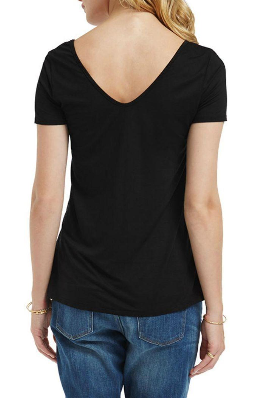 Three Dots Double V Tee - Front Full Image