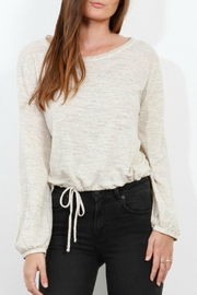 Three Dots Jersey Tie Blouse - Front cropped