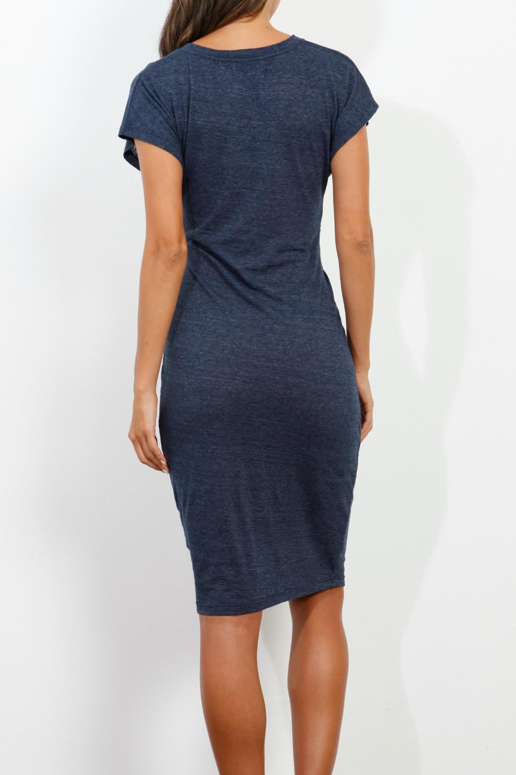 Three Dots Knotted Front Dress - Side Cropped Image