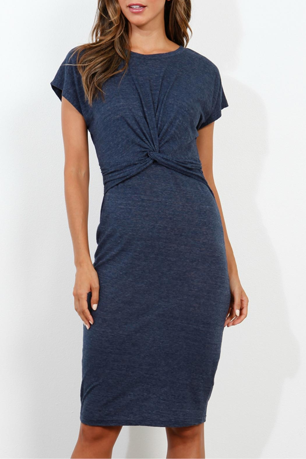 Three Dots Knotted Front Dress - Main Image