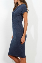 Three Dots Knotted Front Dress - Front full body