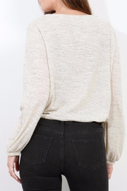 Three Dots Oatmeal Jersey Blouse - Front full body