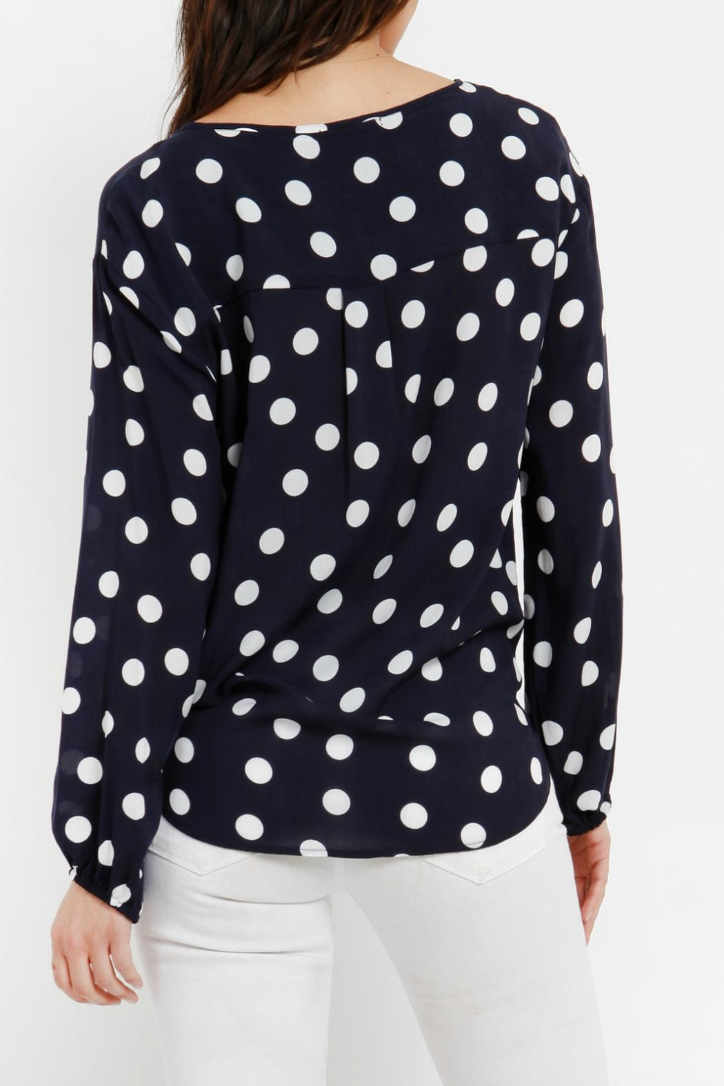 Three Dots Tie Front Blouse - Side Cropped Image