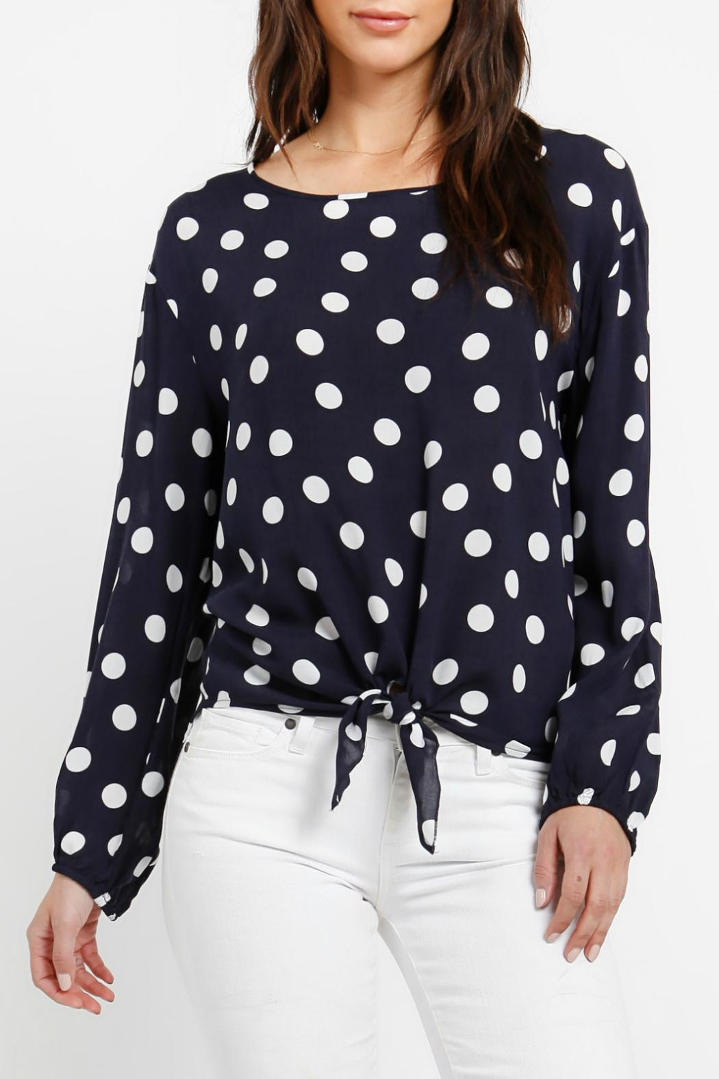Three Dots Tie Front Blouse - Main Image