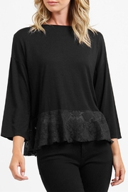 Three Dots Tulle Flounce Top - Product Mini Image