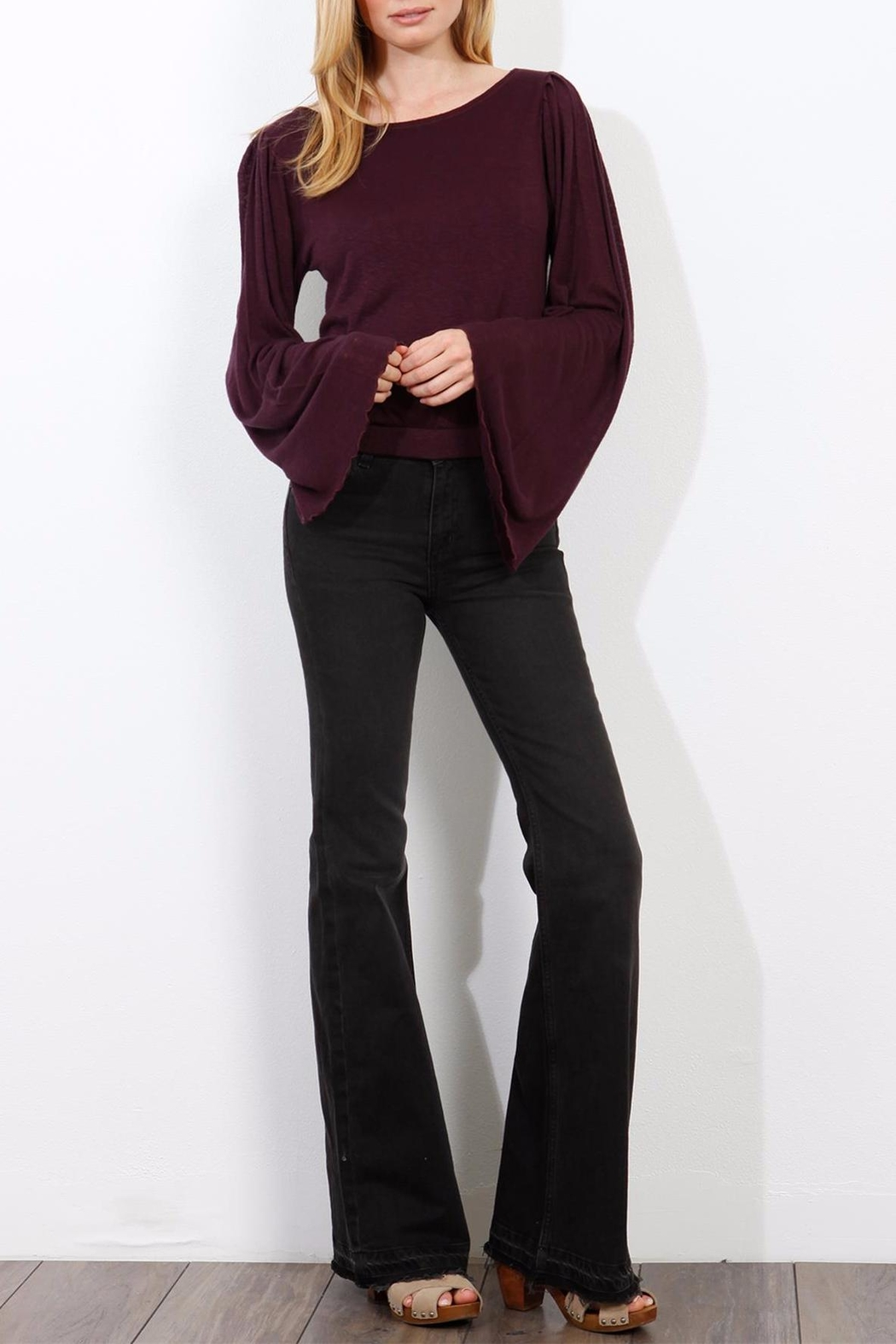 Three Dots Wide Sleeve Sweater - Front Full Image