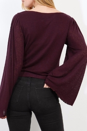 Three Dots Wide Sleeve Sweater - Back cropped