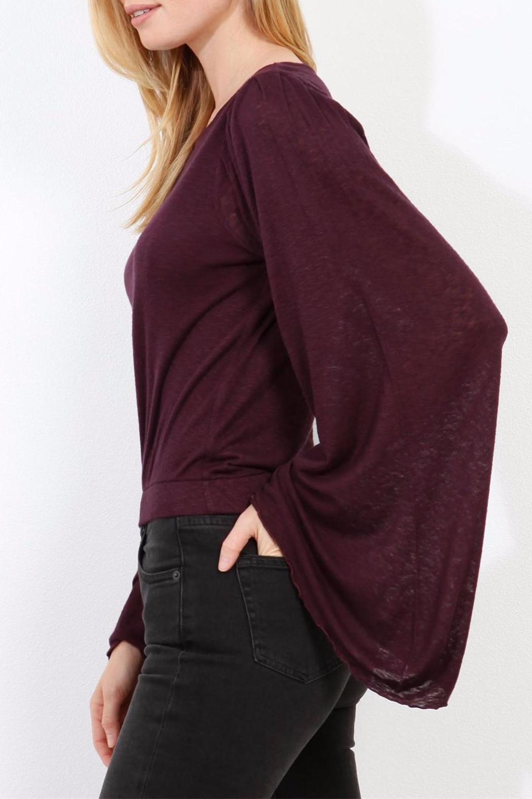 Three Dots Wide Sleeve Sweater - Side Cropped Image