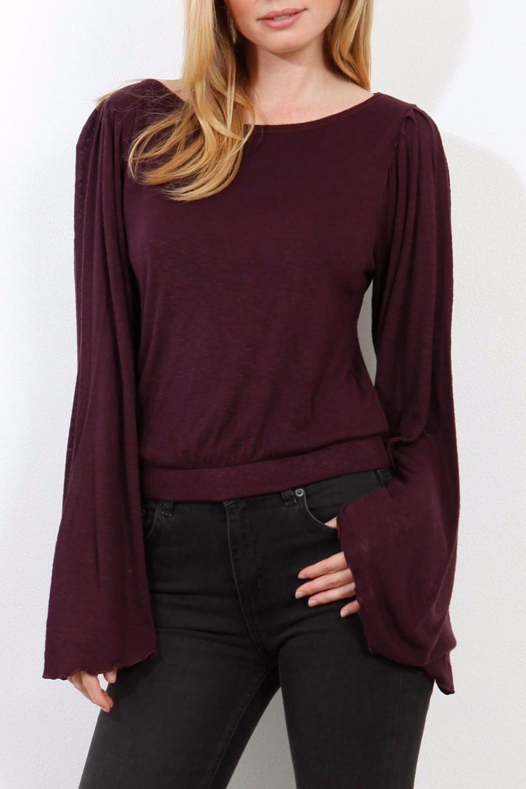 Three Dots Wide Sleeve Sweater - Main Image