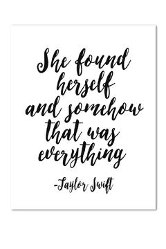 Shoptiques Product: Taylor Swift Print