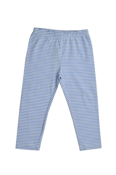 Shoptiques Product: Blue & White Stripes Leggings