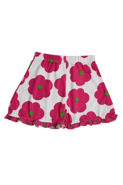 Shoptiques Product: Fuchsia Flower Ruffle Shorts