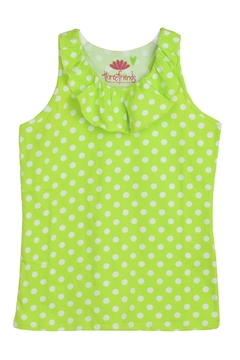Shoptiques Product: Lime Ruffle Tank Top