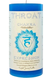 Crystal Journey Candles Throat Chakra Candle - Product Mini Image