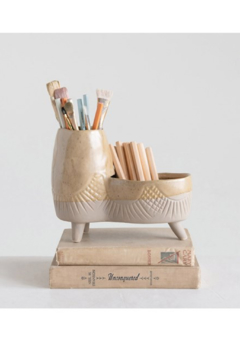 Creative Co-Op Throwback Stoneware Planter - Alternate List Image