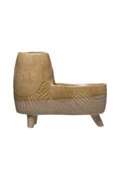 Creative Co-Op Throwback Stoneware Planter - Product List Image