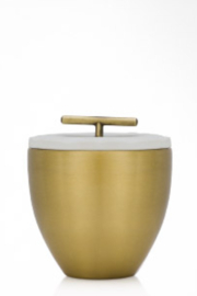 Thymes FRASIER FIR POURED GOLD METAL CANDLE WITH LID - Product Mini Image