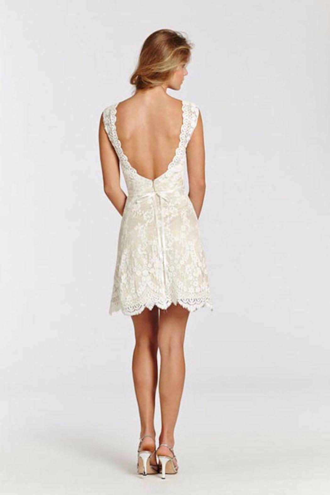 Ti Adora  Short Lace Gown - Side Cropped Image