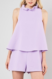 Do & Be Tia Neck Tie Romper - Front cropped