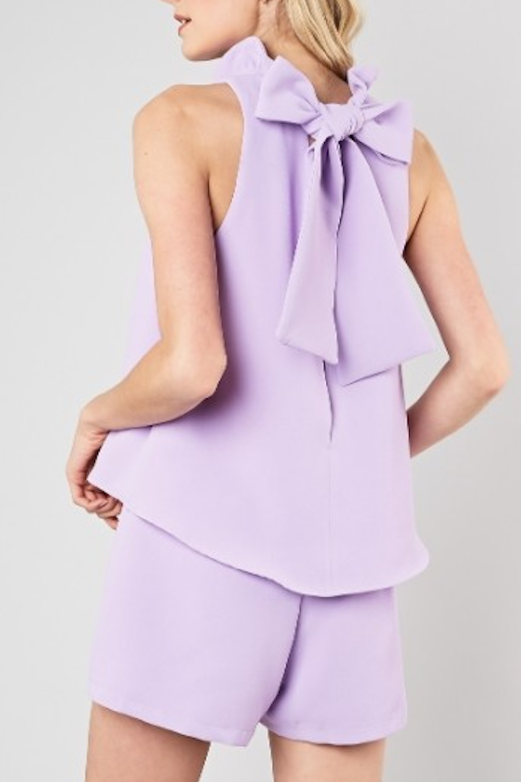 Do & Be Tia Neck Tie Romper - Side Cropped Image