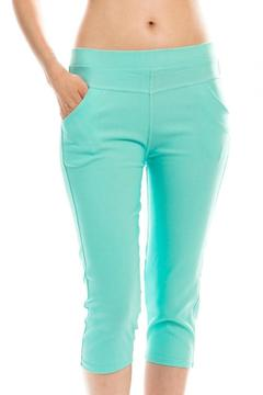 Tiara Stretch Rhinestone Capris - Product List Image