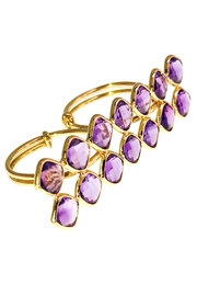 Tiara Fine Jewelry Amethyst Double Ring - Front cropped
