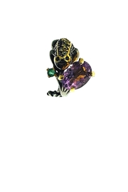 Tiara Fine Jewelry Amethyst Frog Ring - Side cropped