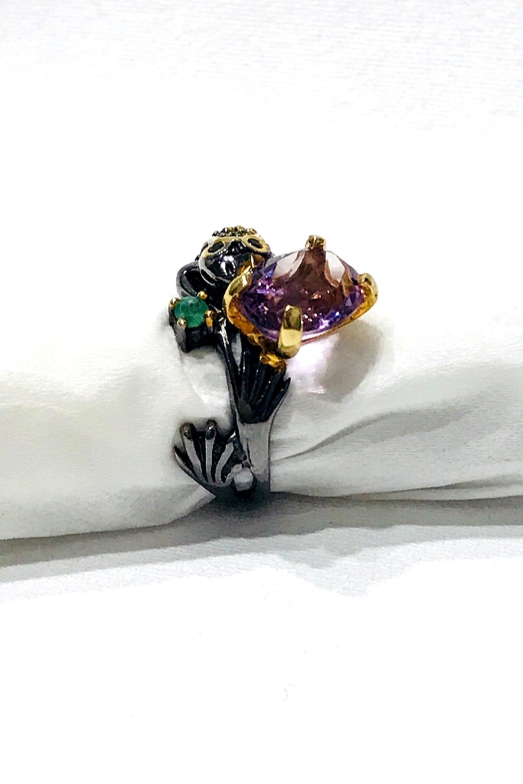 Tiara Fine Jewelry Amethyst Frog Ring - Front Full Image
