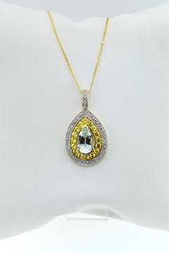 Tiara Fine Jewelry Aqua Sapphire Necklace - Product List Image