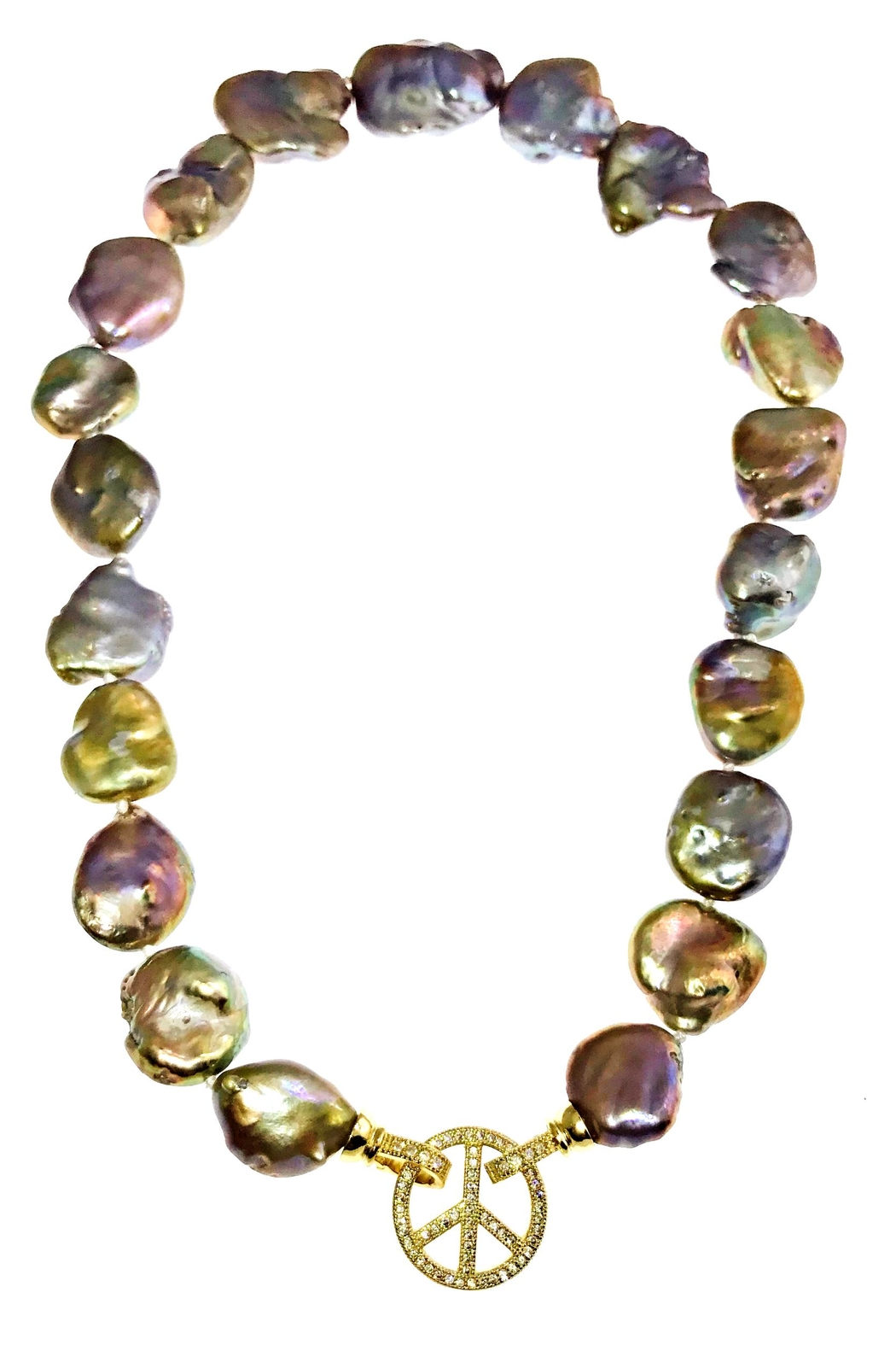 Tiara Fine Jewelry Baroque Pearl Necklace - Front Full Image