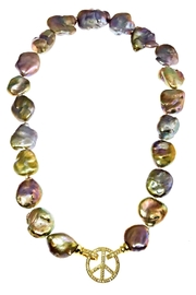 Tiara Fine Jewelry Baroque Pearl Necklace - Front full body