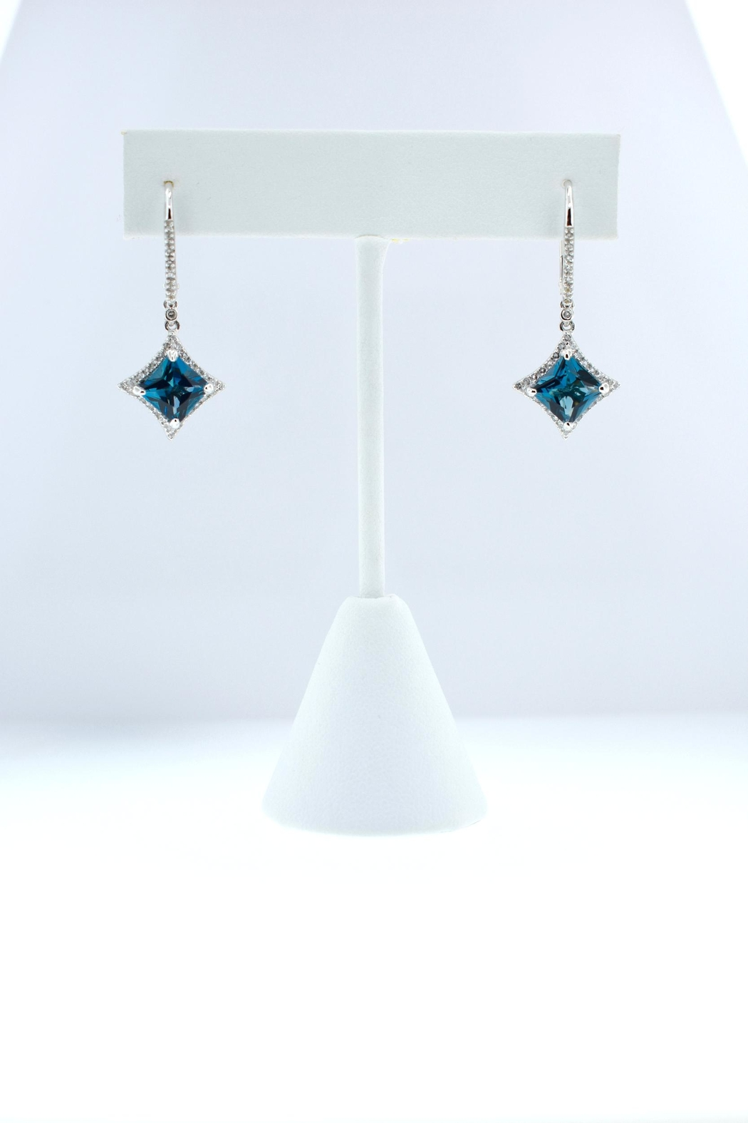 Tiara Fine Jewelry Blue Topaz Earrings - Main Image