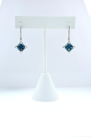 Tiara Fine Jewelry Blue Topaz Earrings - Front cropped