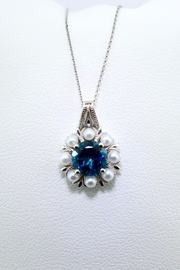 Tiara Fine Jewelry Blue Topaz Necklace - Product Mini Image
